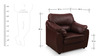 Lily Sofa Set in Red Brown Color by Comfort Couch