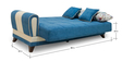 Lima Three Seater Sofa cum Bed in Radiant Turquoise Colour by Urban Living