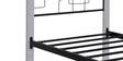Link Wrought Iron Single Bed in White Colour by Evok