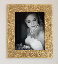 LifeEstyle Black & golden Mango Wood & Brass 11 x 14 Inch Photo Frame