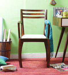 Dvina Sheesham Wood Chair in Honey Oak Finish by Woodsworth