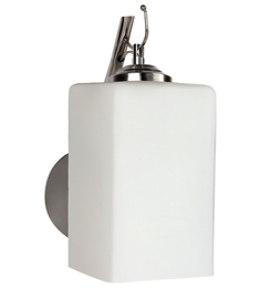 Lime Light White Glass And Wood Wall Mounted Light - 1498186