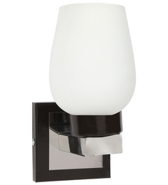 Lime Light White Glass And Wood Wall Mounted Light - 1498152