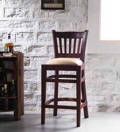 Claire Bar Chair in Passion Mahogany Finish by Amberville