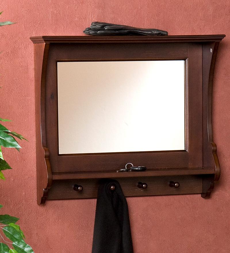 Compare lifeestyle mahogany mango wood mirror frame shelf - Wooden bathroom mirror with shelf ...