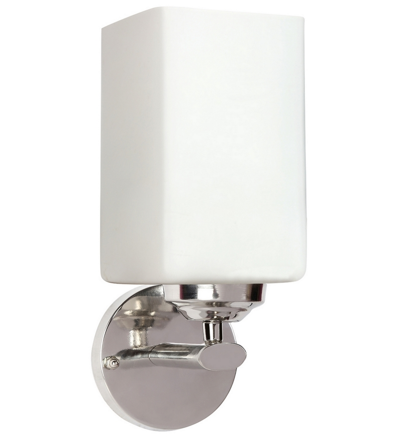 Buy Lime Light White Glass and Wood Wall Mounted Light Online - Upward - Wall Lights - Pepperfry