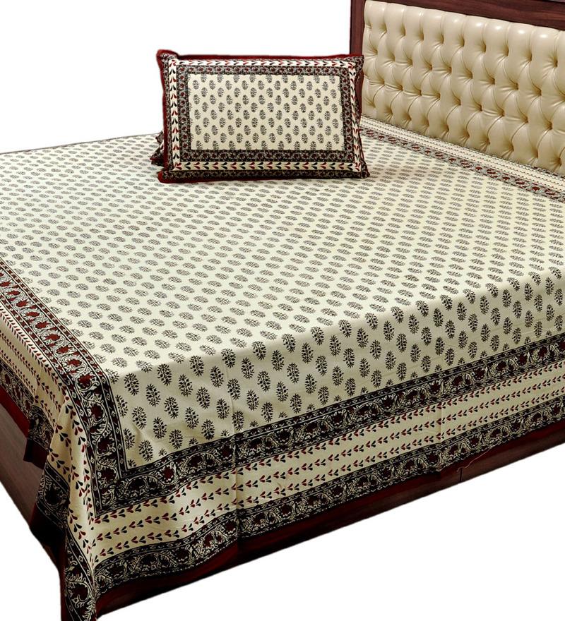 Little India Famous Jaipuri Cotton Double Bed Sheet Set By .