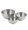 Liefde Dia Silver Stainless Steel Mixing and Serving Bowl - Set of 3