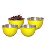Liefde Dia Yellow Stainless Steel 800 ML Serving Bowl - Set of 4