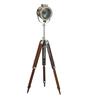 Joplin Tripod Lamp in Silver by Bohemiana
