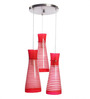 Miliyah Ceiling Lamp in Red by Bohemiana