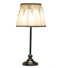 Abrahan Table Lamp in White by CasaCraft