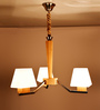 Rocco Chandelier in White by Casacraft