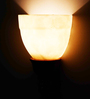 Lightspro White Glass Wall Lamp