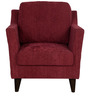 Liliana One Seater Sofa in Burgundy Colour by CasaCraft