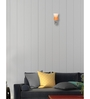 Lime Light Orange Glass and Wood Wall Mounted Light