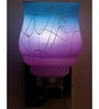 Lime Light Pink and Blue Glass and Wood Wall Mounted Light