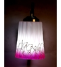 Lime Light Pink and White Glass and Wood Wall Mounted Light