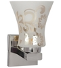 Lime Light White and Silver Glass and Wood Wall Mounted Light
