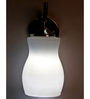 Lime Light White Glass and Wood Wall Mounted Light