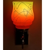 Lime Light Yellow and Orange Glass and Wood Wall Mounted Light