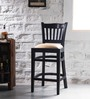 Claire Bar Chair in Espresso Walnut Finish by Amberville