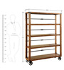 Linda Moving Display Unit in Black & Brown Colour by Asian Arts