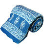 Little India Blues Abstract Patterns Cotton Single Size Quilt 1 Pc