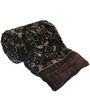 Little India Browns Nature & Florals Cotton Blend Queen Size Quilt 1 Pc