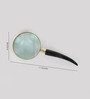 Little India Gold Brass Real Magnifying Glass with Wooden Handle