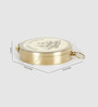 Little India Gold Brass Travel Aid Real Flat Compass