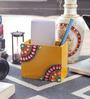 Little India Multicolour Wooden Decorative Kundan Meenakari Pen Stand