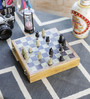 Little India White Marble Real Makrana Chess Board Handicraft