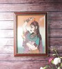 Little India Wooden 9 x 0.5 x 13 Inch Pretty Princess Bani Thani Gemstone Framed Painting