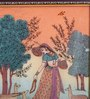Little India Wooden 9 x 0.5 x 13 Inch Sitar Playing Meera with Dears Wooden Framed Painting