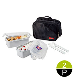 Lock&Lock Square Lunch Box Set With Black Bag