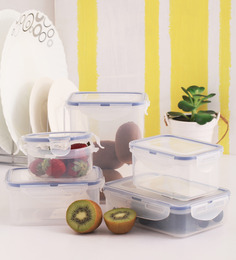 Lock&Lock Classic Transparent Plastic Container - Set Of 5