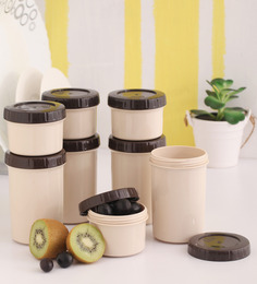 Lock&Lock Twist Brown Plastic Container - Set of 8