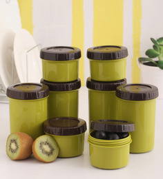 Lock&Lock Twist Green Plastic Container - Set of 8