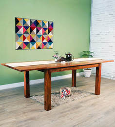 Logan Six Seater Extendable Dining Table In Warm Walnut Finish By Woodsworth