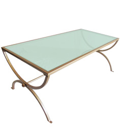London Coffee Table in Antique Gold colour by Asian Arts