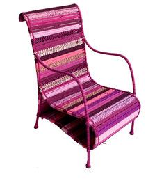 Love Chair In Shades Of Fuschia Pink by Sahil Sarthak Designs