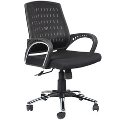 Low Back Ergonomic Chair in Black Colour by Home City