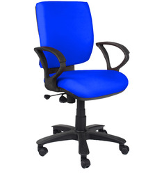 Low Back Ergonomic Chair in Blue Colour by Home City