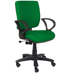 Low Back Ergonomic Chair in Green Colour by Home City