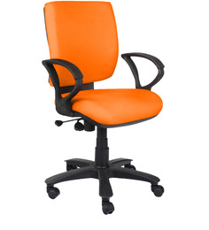 Low Back Ergonomic Chair in Orange Colour by Home City