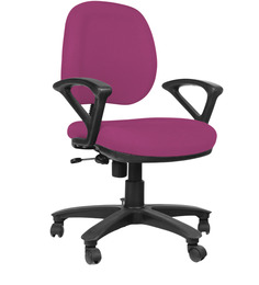 Low Back Ergonomic Chair in Purple Colour by Home City