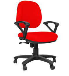 Low Back Ergonomic Chair in Red Colour by Home City
