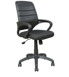 Low Back Work Station Chair in Black Colour by Parin