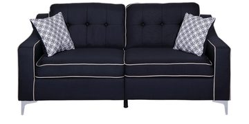 Lonian Three Seater Sofa In Black Colour By Evok